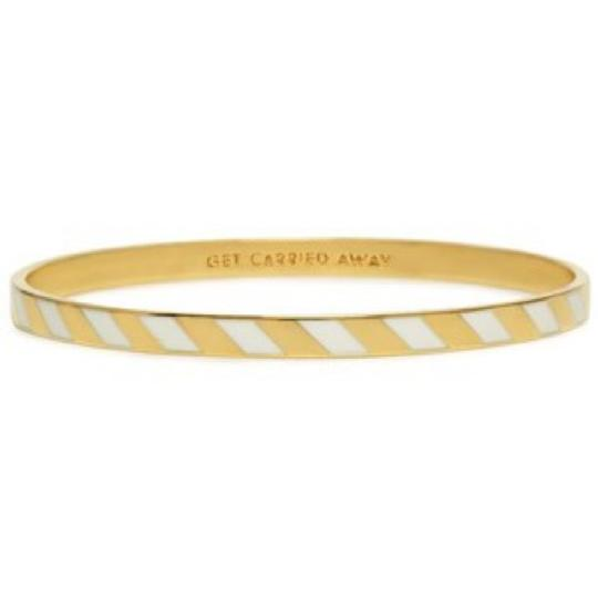 Preload https://item3.tradesy.com/images/kate-spade-white-and-gold-get-carried-away-bangle-bracelet-15709102-0-2.jpg?width=440&height=440