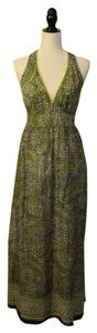 Green Patterned Sheer Maxi Dress by Burning Torch Boho Anthropologie