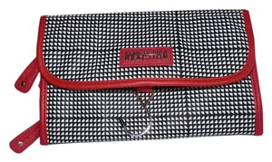 Kenneth Cole Reaction Kenneth Cole Reaction Black, Red & White Travel Cosmetic Bag