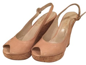 Shoe Box New York Nude Patent & Natural Cork Wedges