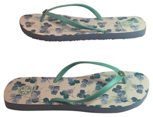 Tory Burch Flip Flops Under 50 Mojito Primul Soft Logo Tory green Sandals