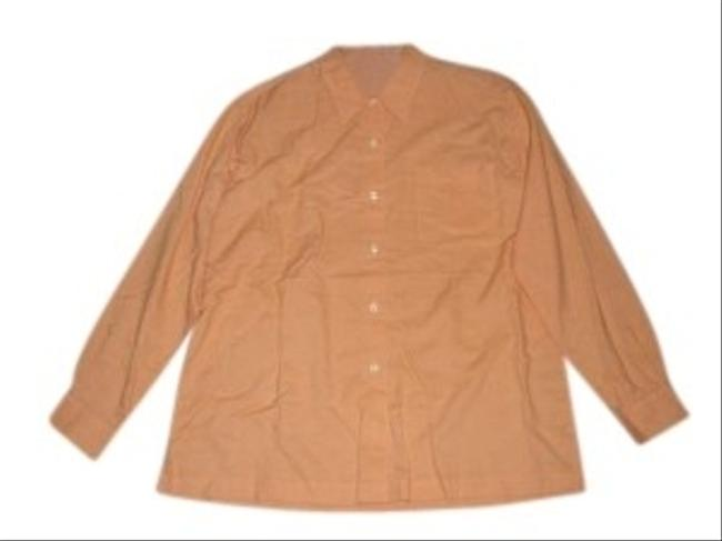 Preload https://item1.tradesy.com/images/bass-orange-button-down-top-size-10-m-157095-0-0.jpg?width=400&height=650