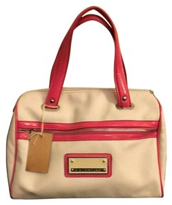 Mario Valentino Vintage Leather Tote in White & Pink