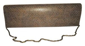 Chinese Laundry Snap Gray snakeskin Clutch