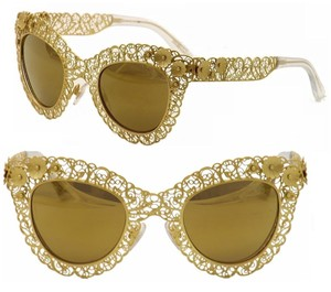 c5632862f9a6 Dolce&Gabbana Dolce and Gabbana Sunglasses Womens 2015 - 2016 Gold Leaf  Flower Limited Edition Filigree Filigrana