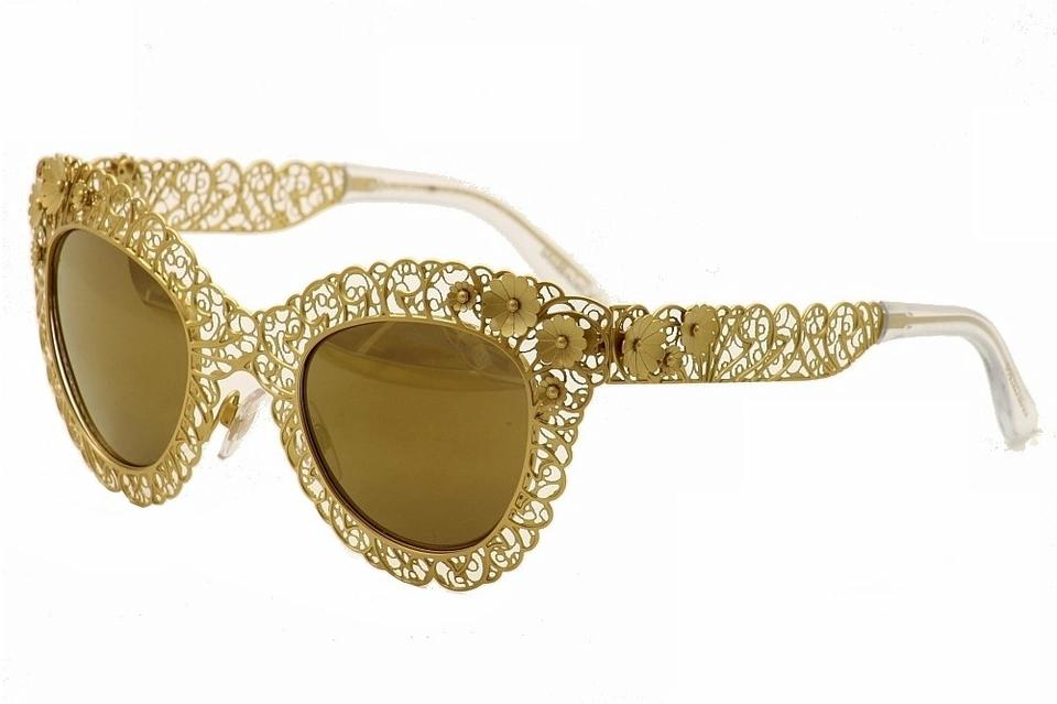 74d17513f3a Dolce And Gabbana Sunglasses Gold Flowers