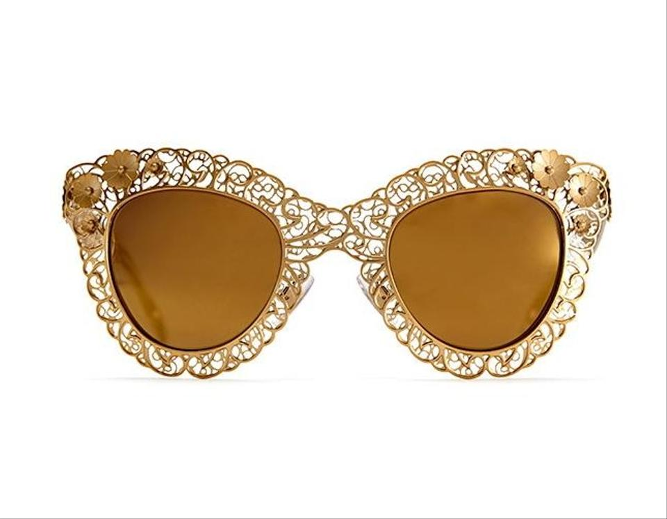 34be2e10158 Dolce And Gabbana Sunglasses Gold Leaf