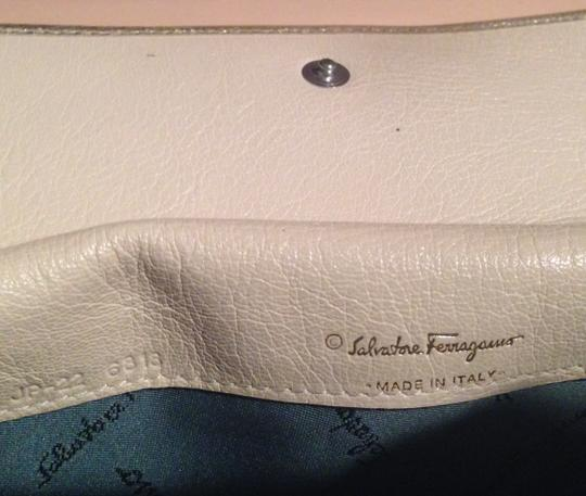 Salvatore Ferragamo Metallic Leather Continental Wallet