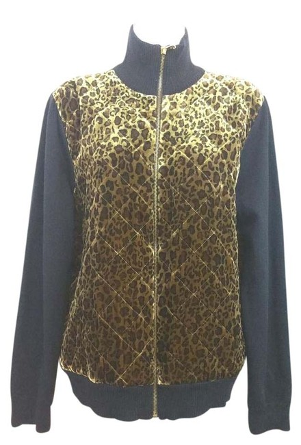 Preload https://item3.tradesy.com/images/lauren-ralph-lauren-animal-print-quilted-front-black-knit-jacket-xl-sweaterpullover-size-16-xl-plus--15710047-0-1.jpg?width=400&height=650