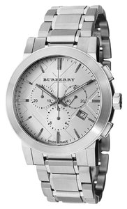 Burberry 100% Brand New Swiss Made Authentic Burberry Watch, Men's Swiss Chronograph Stainless Steel Bracelet 42mm BU9350