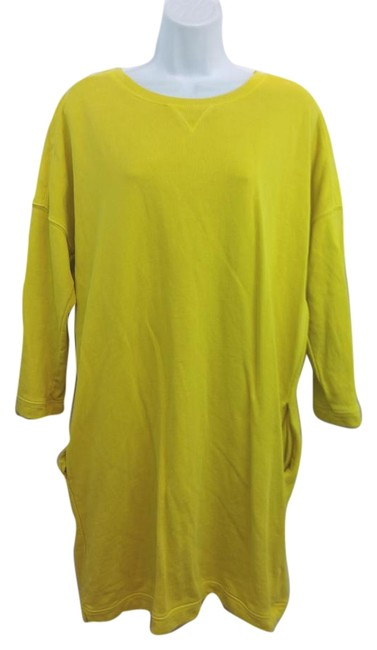 Preload https://item1.tradesy.com/images/ax-armani-exchange-ax-yellow-terry-cotton-blend-m-knee-length-short-casual-dress-size-8-m-15710380-0-2.jpg?width=400&height=650