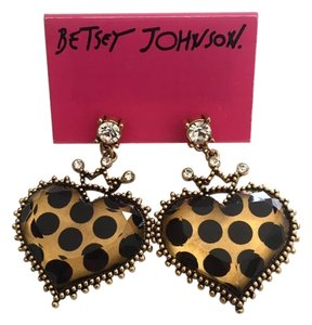 Betsey Johnson Betsey Johnson Heart Shape Drop Earrings