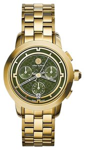 Tory Burch TRB1023 Tory Women Watch Gold IP Chronograph 37 mm