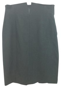 Gianfranco Ferre Black Wool Skirt