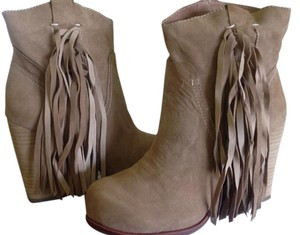 Free People Jeffrey Campbell Suede Fringed Bronco Natural Boots