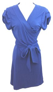 Diane von Furstenberg short dress Dvf Blue Wrap on Tradesy