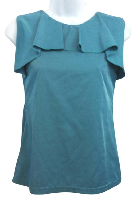Preload https://item2.tradesy.com/images/ruffle-teal-14-blouse-size-8-m-15711046-0-1.jpg?width=400&height=650