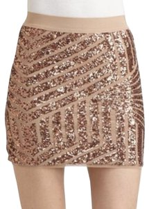 BCBGMAXAZRIA Mini Skirt Gold