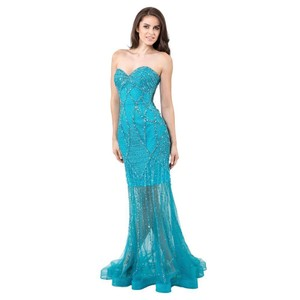 Terani Couture Glitter Bling Prom Dress