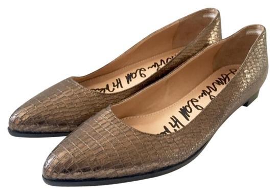 Lanvin Bronze Pointy Flats Size EU 39.5 (Approx. US 9.5) Regular (M, B) Image 0