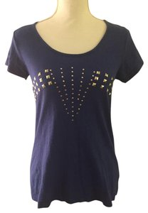 Cotton On Studded Scoop Neck T Shirt Blue
