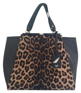 Diane von Furstenberg Tote in Brown Black Leopard
