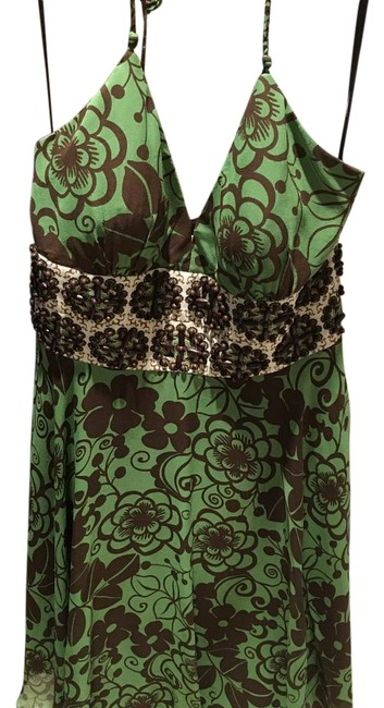 Preload https://img-static.tradesy.com/item/15711553/phoebe-couture-green-with-brown-flowers-mid-length-cocktail-dress-size-12-l-0-1-650-650.jpg