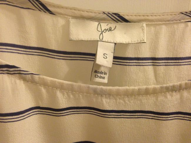 Joie Top Creme and blue