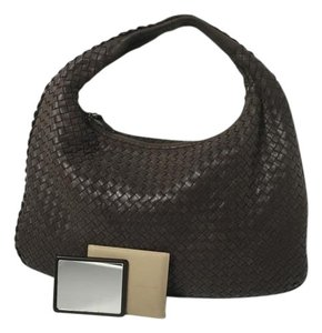 Bottega Veneta Maxi Nappa Leather Woven Neverfull Hobo Bag