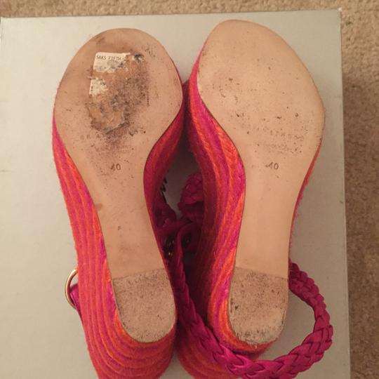 Brian Atwood Orange and Pink Wedges