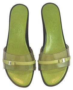 Salvatore Ferragamo Green Sandals