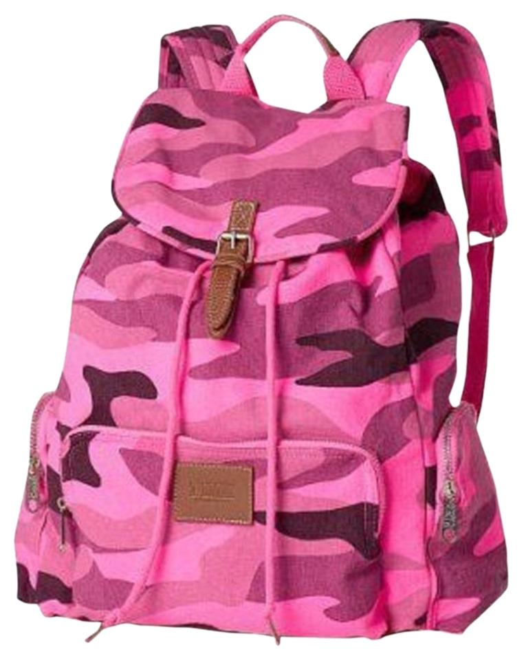 6f7588a063 PINK Victoria s Secret Camo Print School Beach Bookbag Multicolor ...