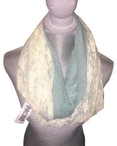 PacSun PacSun Light Blue and Ivory Lace Snood Infinity Scarf