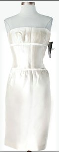 Carmen Marc Valvo Strapless Silk Wedding Dress