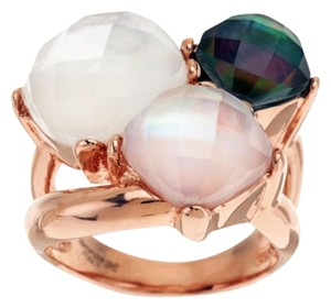 Honora Honora Multi-Color Mother-of-Pearl Faceted Doublet Bronze Ring - Size 10