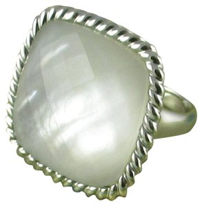Honora Honora White Mother-of-Pearl Doublet Cushion Shape Sterling Silver Ring - Size 8