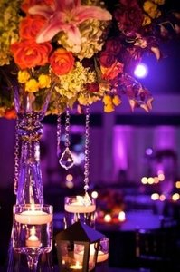 Clear 12- 24 Inch Hanging French Crystals Reception Decoration