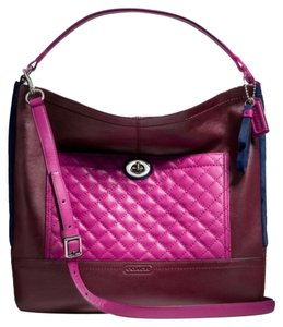 Coach Satchel in Burgundy Multi
