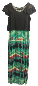 black and green Maxi Dress by Ebase