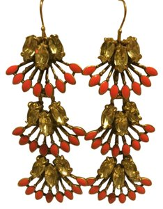 Stella & Dot Coral Clay Chandeliers