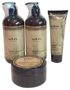 Wen by Chaz Dean Wen By Chaz Dean Sweet Almond Mint Cleansing Conditioner Treatment Set