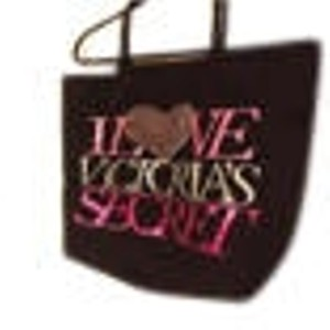 Victoria's Secret black with lots of pink bling Beach Bag