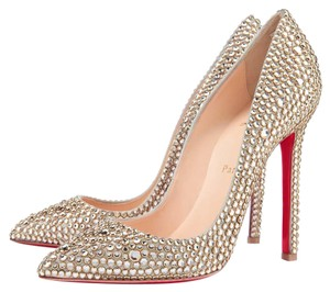 Christian Louboutin Redsoles Strass Gold Strass Pumps
