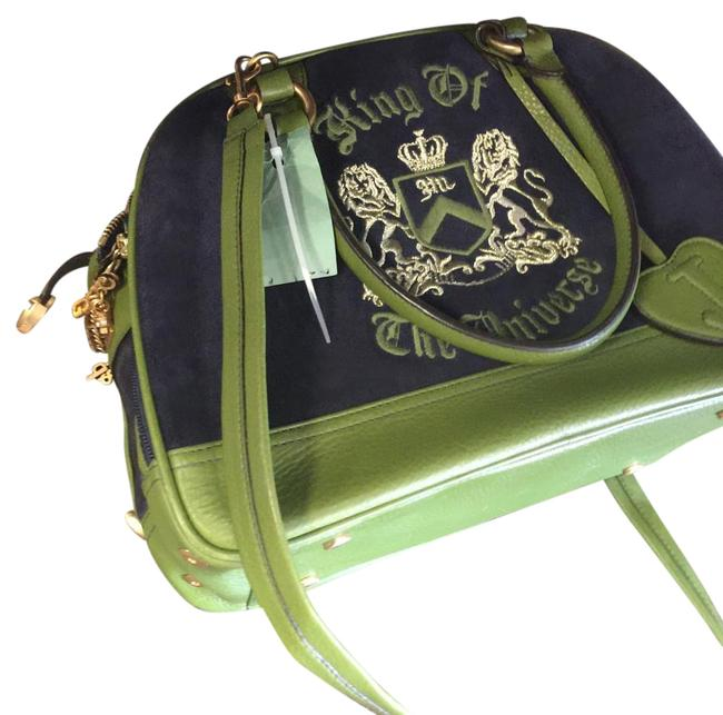 Item - Blue and Green and Gold Buttons Beach Bag