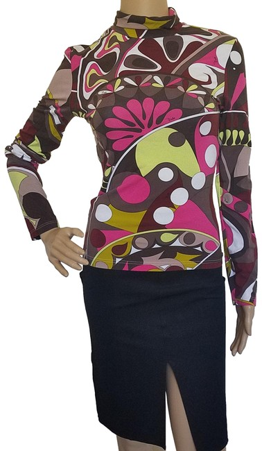 Preload https://item1.tradesy.com/images/emilio-pucci-multicolor-brown-red-print-long-sleeve-turtleneck-sweaterpullover-size-8-m-15714970-0-3.jpg?width=400&height=650