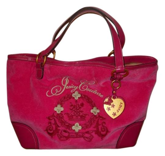Preload https://img-static.tradesy.com/item/15715051/juicy-couture-pink-velour-and-leather-tote-0-1-540-540.jpg