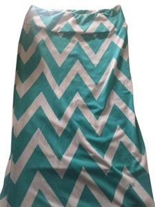 Other Maxi Skirt Green Chevron