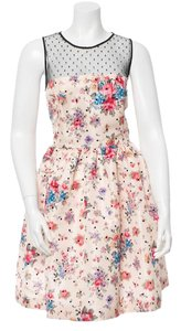 RED Valentino short dress Beige, blue and multicolor on Tradesy