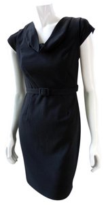 Calvin Klein Lbd Evening Belted Stretchy 7716 Dress
