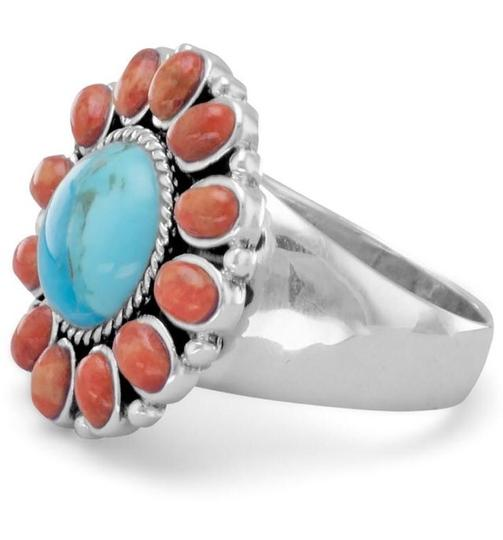 Other Reconstituted Turquoise and Coral Sunburst Turquoise Image 2